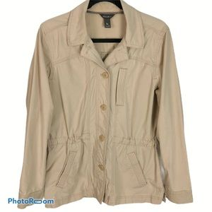 Eddie Bauer Women's Tan Utility Trench Coat Medium